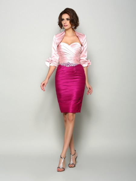 Fashion 1/2 Sleeves Special Occasion Satin Wrap