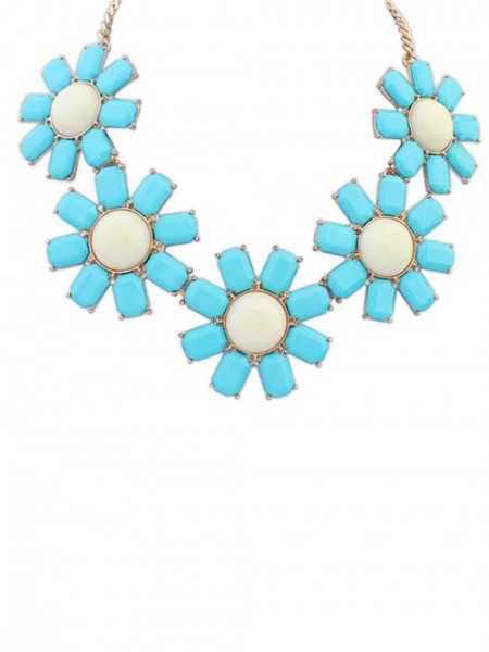 The Most Trendy Occident Bohemia Flowers Hot Sale Necklace