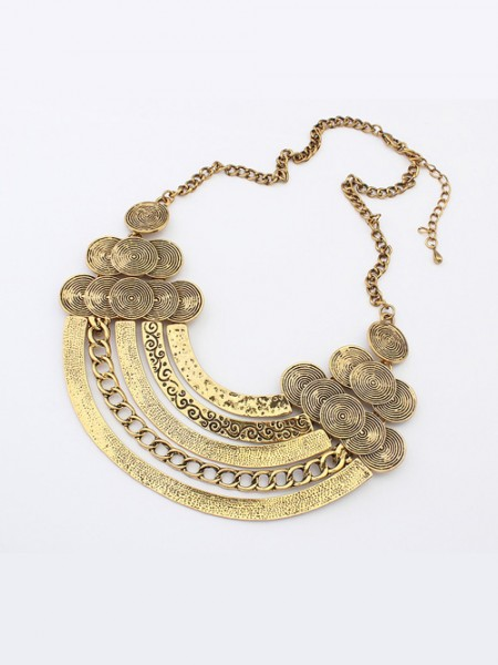 The Most Stylish Occident Punk Metallic Hyperbolic Multi-Layered Hot Sale Necklace