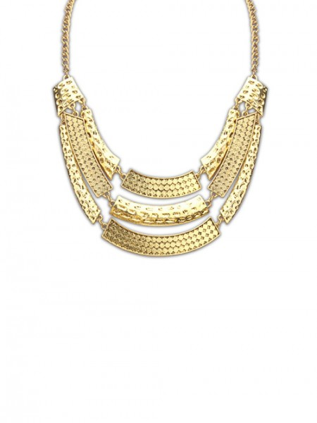 The Most Fashionable Occident Major Suit Street Shooting Metallic Personality Hot Sale Necklace