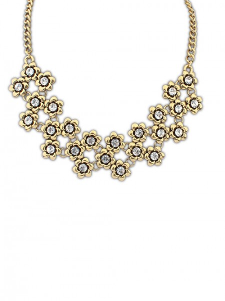 The Most Fashionable Occident Retro Metallic Plum Flower Hot Sale Necklace