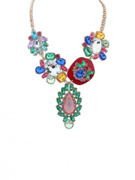The Most Fashionable Occident Gorgeous Multicolor Hot Sale Necklace