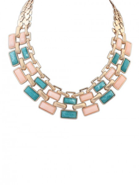The Most Trendy Occident OL Style Geometry Blocks Hot Sale Necklace
