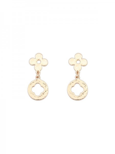 The Most Fashionable Occident Simple All-match Leaf clover Hot Sale Earrings