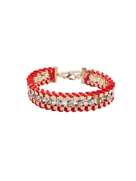 The Most Trendy Occident Ethnic Customs Woven Rhinestone Hot Sale Bracelets
