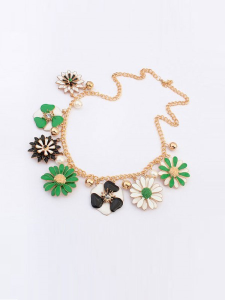 The Most Stylish Occident Celebutante Luxurious Flowers Daisy Hot Sale Necklace