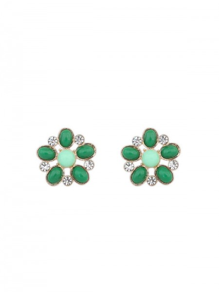 The Most Fashionable Occident Bohemia Big Flower Style Stud Hot Sale Earrings