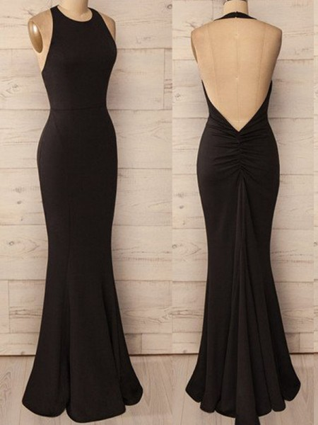 Fashion Trumpet/Mermaid Sleeveless Floor-Length Halter Spandex Dresses