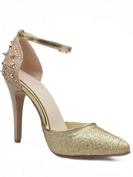 The Most Fashionable Women's Grete Stiletto Heel Close Toe Mary Jane Sandals Shoes