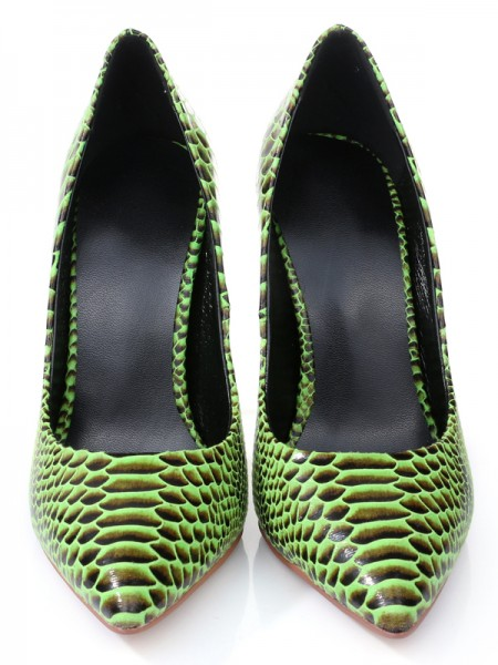 The Most Trendy Women's Stiletto Heel Closed Toe PU With Snake Print High Heels