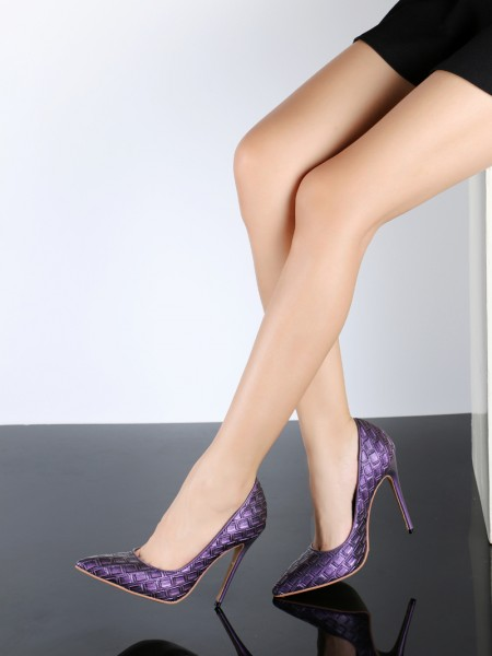 The Most Trendy Women's PU Stiletto Heel Closed Toe With Ostrich Pattern High Heels