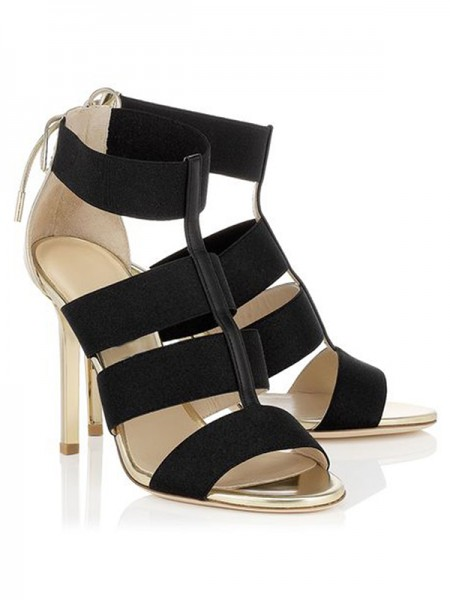 The Most Fashionable Women's Stiletto Heel Suede Peep Toe With Lace-up Sandals Shoes