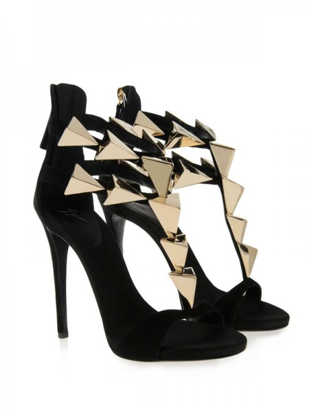 The Most Fashionable Women's Stiletto Heel Suede Peep Toe Platform With Buckle Sandals Shoes